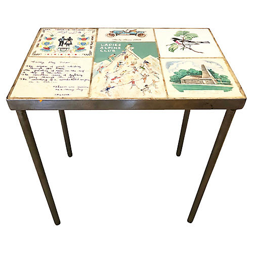 1960s Tiles Side Table