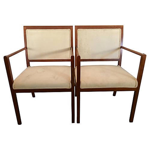 Ward Bennett for Brickel Chairs, Pair