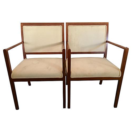 Ward Bennett for Brickel Chairs, Pair