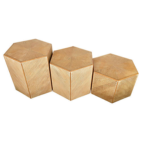 Italian Pencil Reed Side Tables / 3