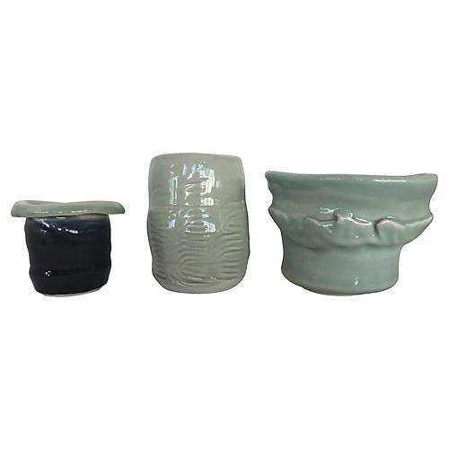 Studio Pottery Vases, S/3