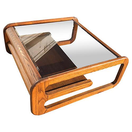 1970s Wood Coffee Table