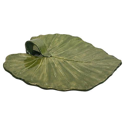 Studio Pottery Leaf Platter