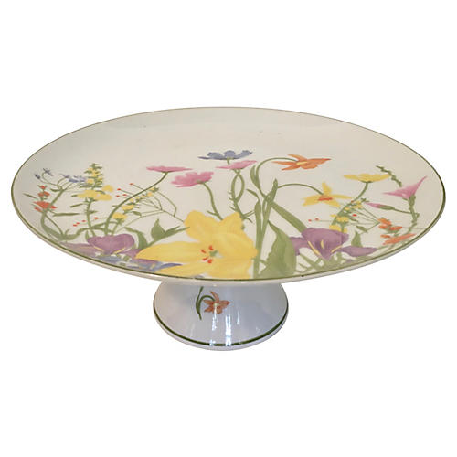 Japanese Porcelain Cake Stand by Mann