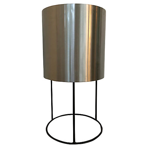 Metal Planter on Iron Stand