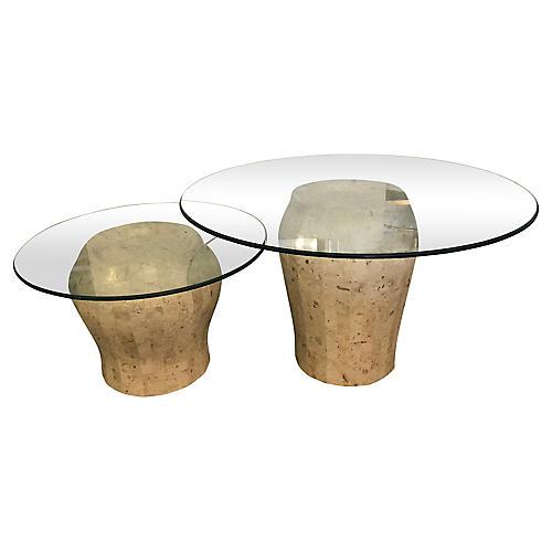 Jar-Shaped Side Tables, S/2
