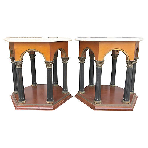 Neoclassical Side Tables, S/2