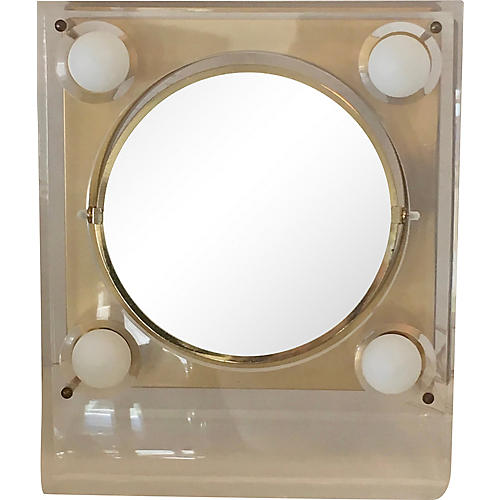 Lucite Frame Table Mirror