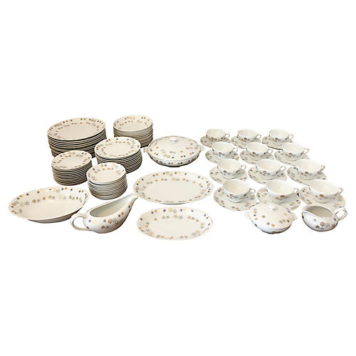 Midcentury Place Settings, Svc for 12
