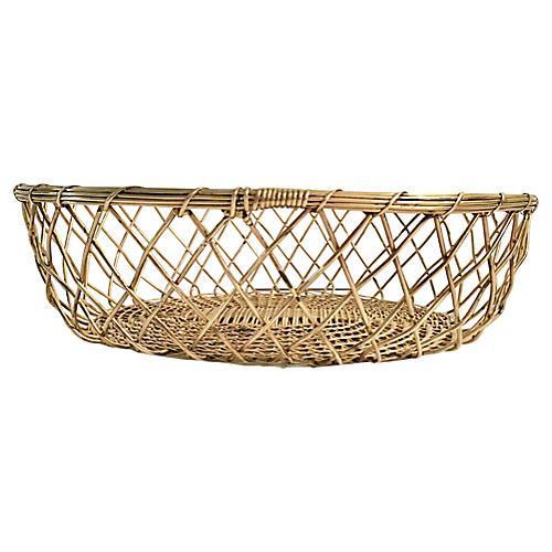 Woven Brass Fruit Basket