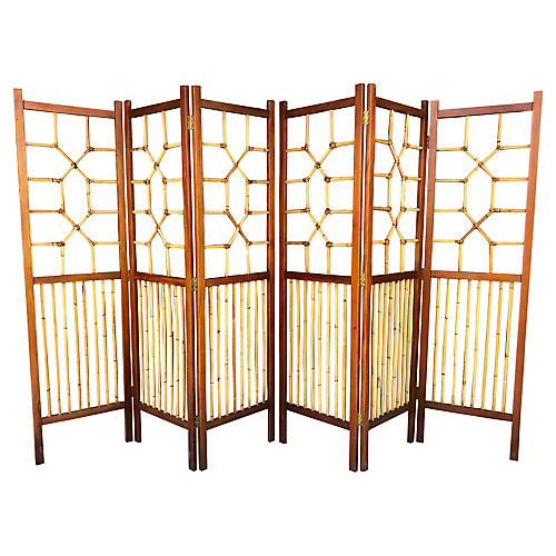 Wood, Bamboo & Leather Dividers, Pair