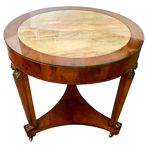Neoclassical Accent Table