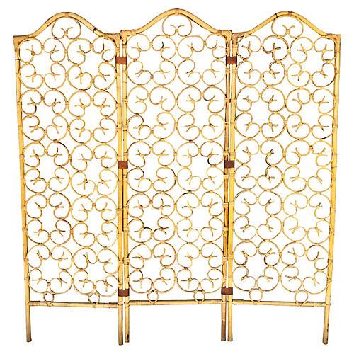 3-Panel Bamboo Divider