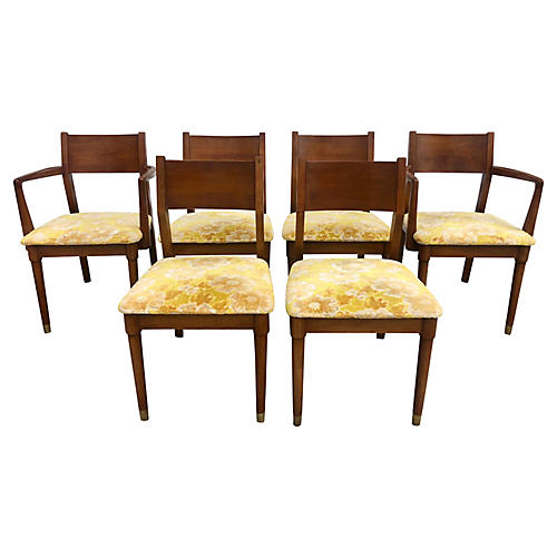 Six Vintage Drexel Dining Chairs