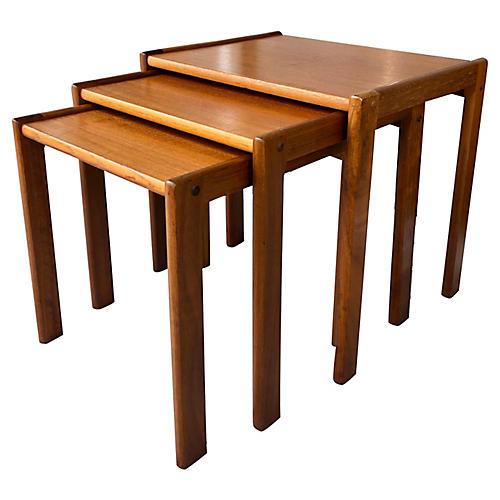 Set Of 3 Danish Nesting Tables