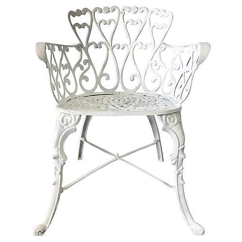 Cast Iron Armchair