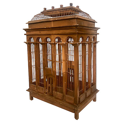 Large Neoclassical-Style Bird Cage