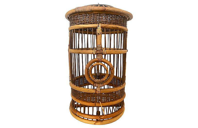Cylindrical Bamboo Bird Cage