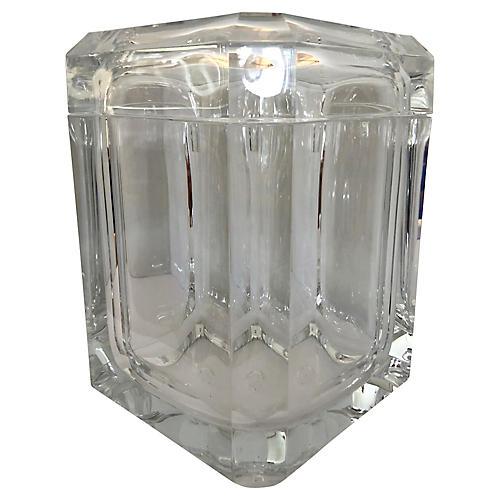 Lucite Ice Bucket w/ Pivoting Lid