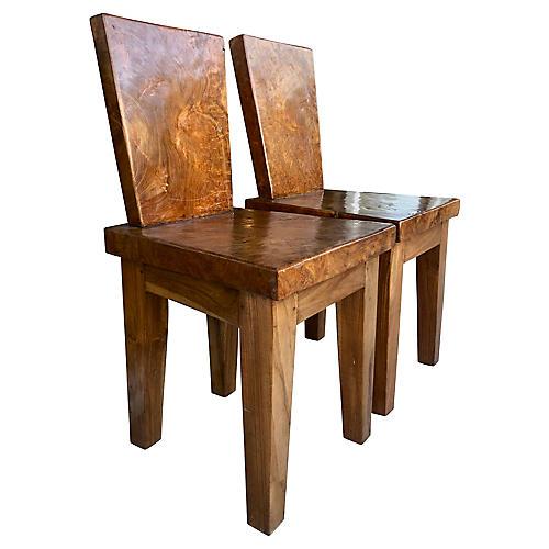 Sculptural Modernist Chairs, S/2