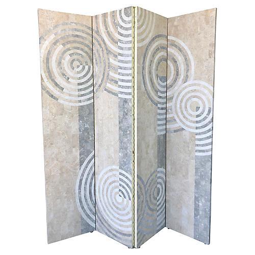 Geometric Tessellated Stone Room Divider