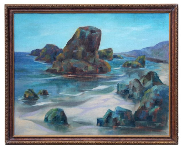 Rocky Beach by E. Gertrude Collins