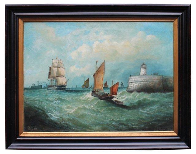 British Harbor by Frederick Haynes