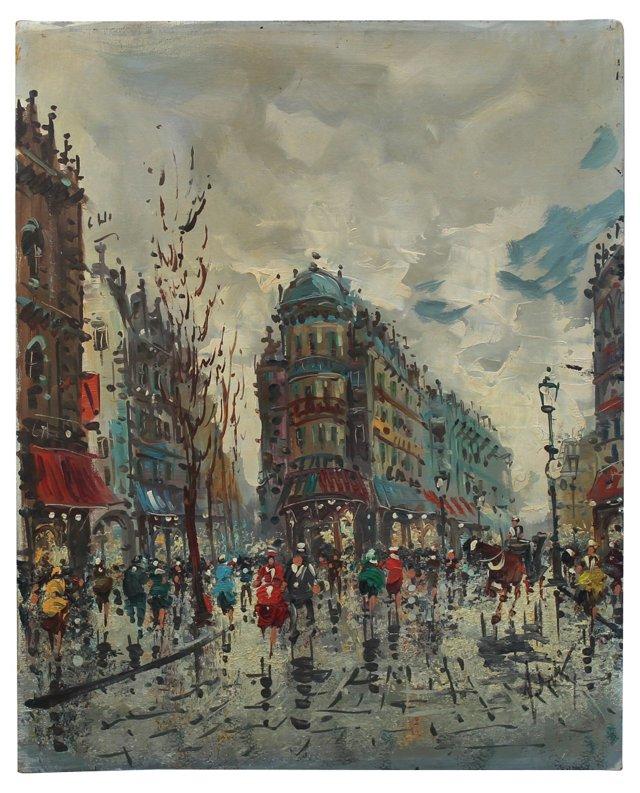 Paris Scene by A. De Vity