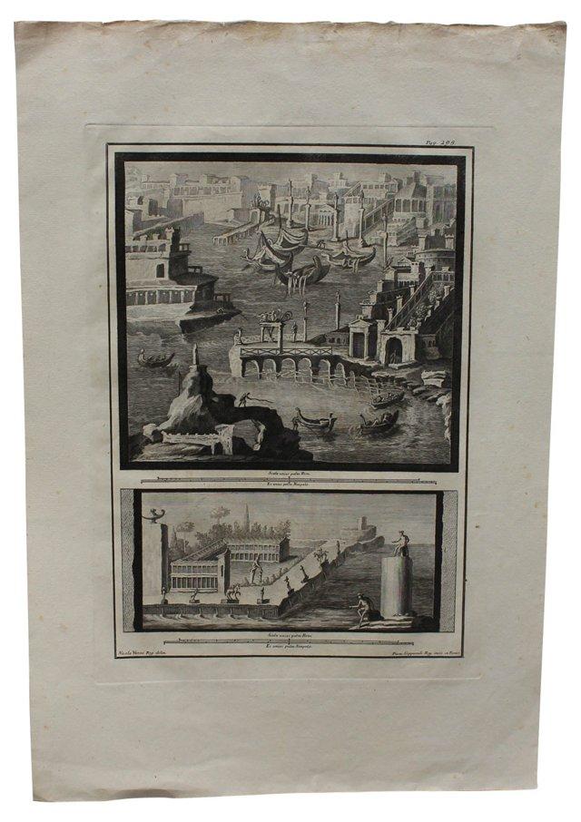 Rome Engraving by N. Vanni