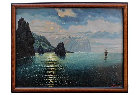 Marine Moonlight by A.K. Newdober