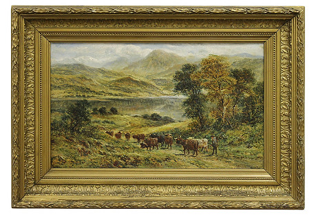 Highlands Cattle by F. Allen
