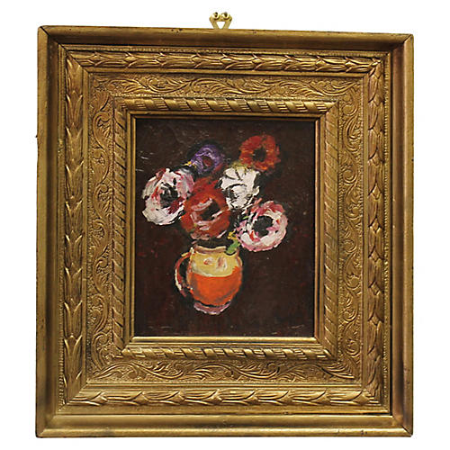 Floral Still Life by C. Baba, 1983