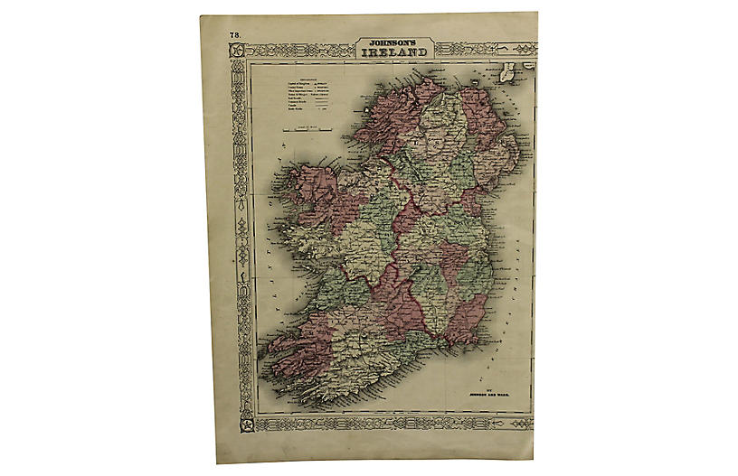Map Of Ireland To New York.Map Of Ireland Foreign Affair International Brands One Kings Lane