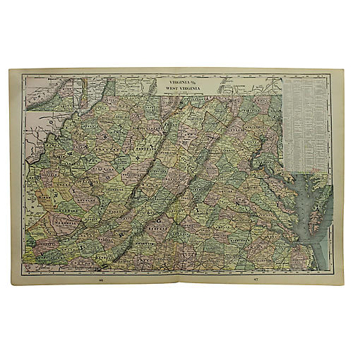 Map of Virginia/West Virginia