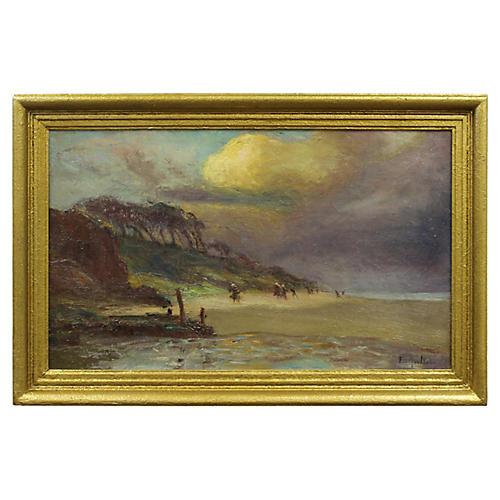 Beach Sunset by F. de Montholon