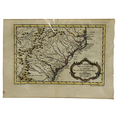 Pre-Revolutionary Map of Georgia