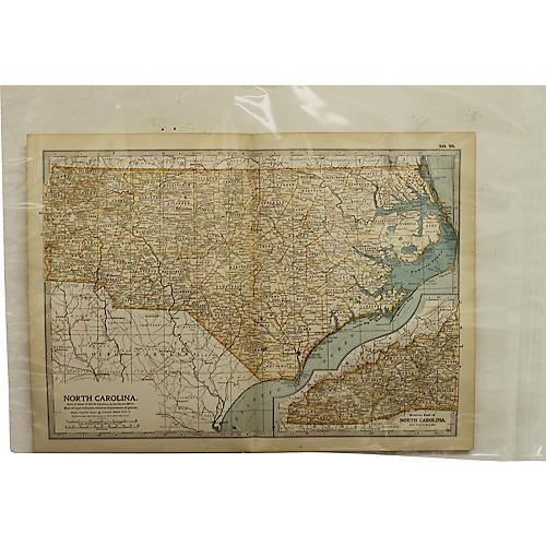 Antique Map of North Carolina