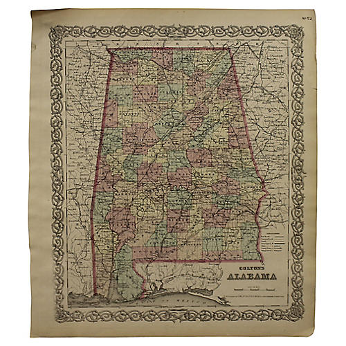 Antique Map of Alabama