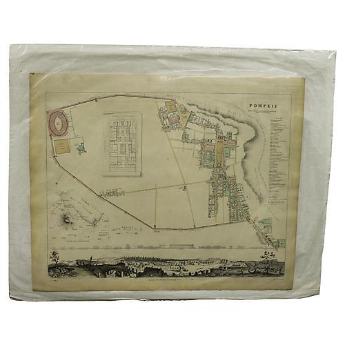 Antique Map of Pompeii