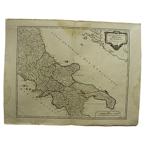Antique Map of the Kingdom of Naples