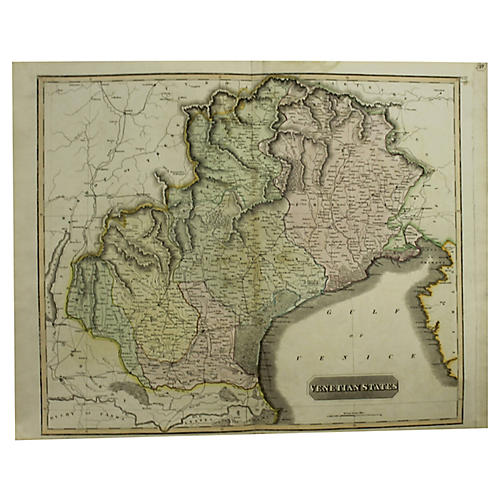 Antique Map of the Venetian States