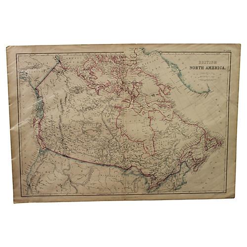 Antique map of Canada