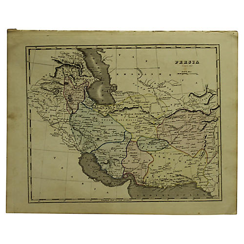 Map of Persia, 1842