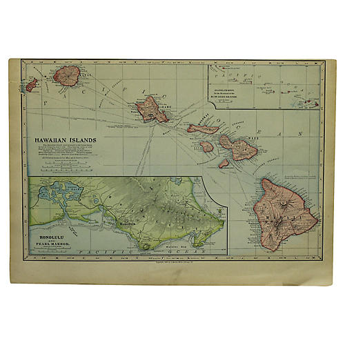 Antique Map of Hawaii
