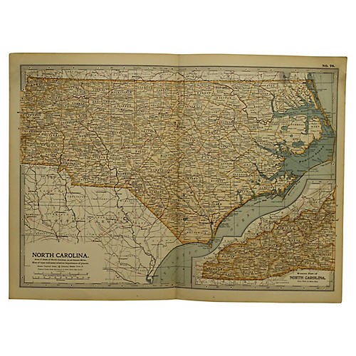 Antique Map of North Carolina