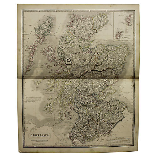 Antique Map of Scotland