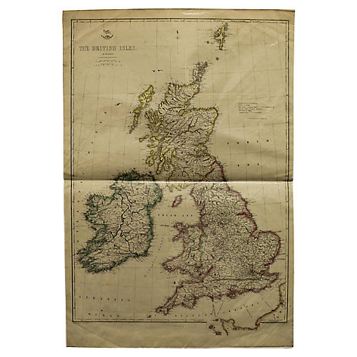 Antique Map of the British Isles