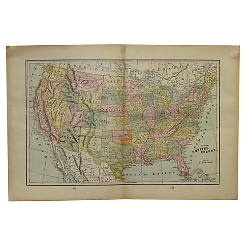 Antique Map of the US