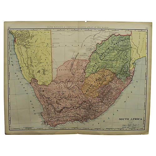 Antique Map of South Africa