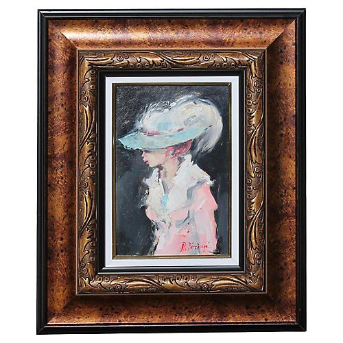 Lady w/ Hat by. R. Daranga